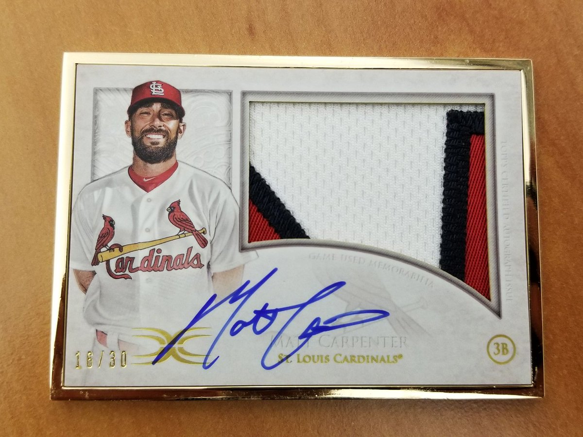 This @MattCarp13 card is stunning. 😍     Just RT for a chance to win it. #MLBCards