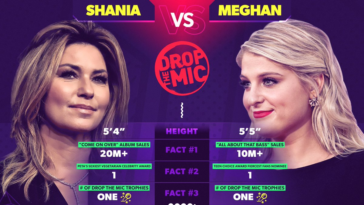 Two queens took the stage & came out besties. S/o to @ShaniaTwain and @Meghan_Trainor! #DropTheMic 💜
