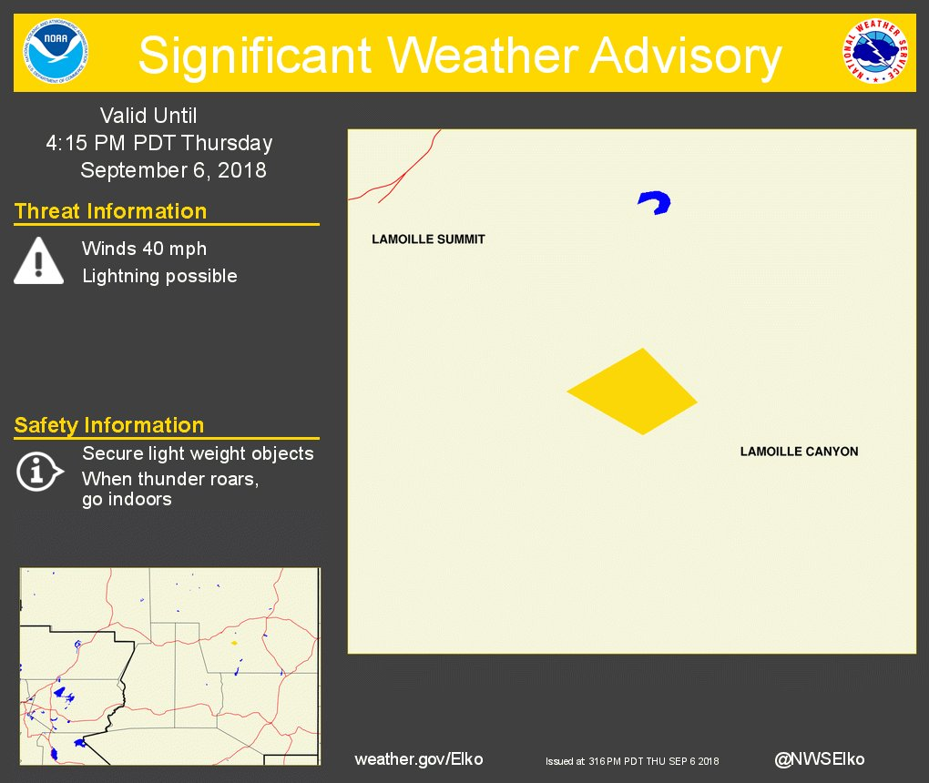 Significant Weather Advisory for The Owl Creek Fire until 415 Pm Pdt. https://t.co/nge7G2JRXo #nvwx