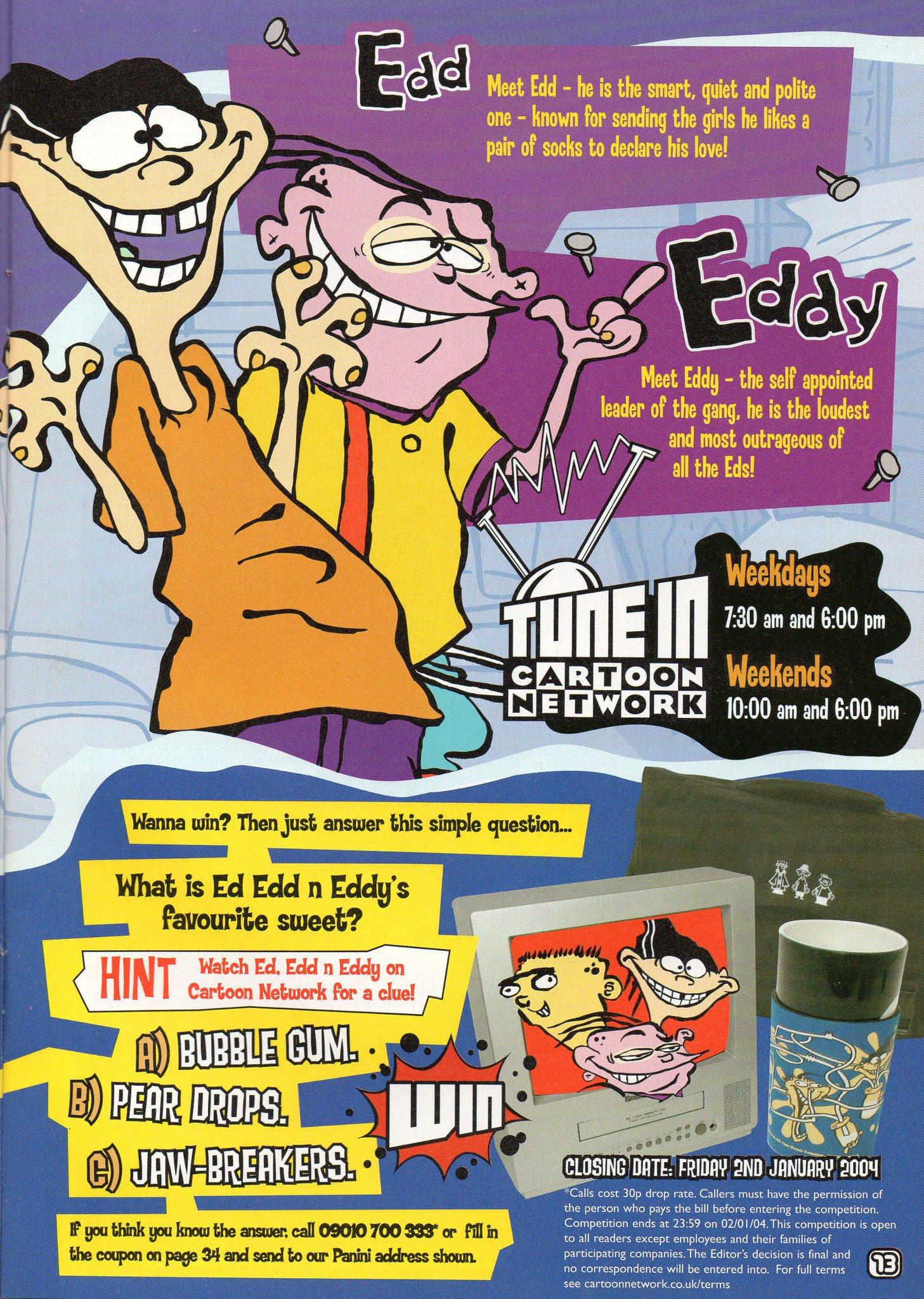 Sam Jo Flewellen On Twitter Meet Ededdneddy Cartoon Network Magazine Uk Advert