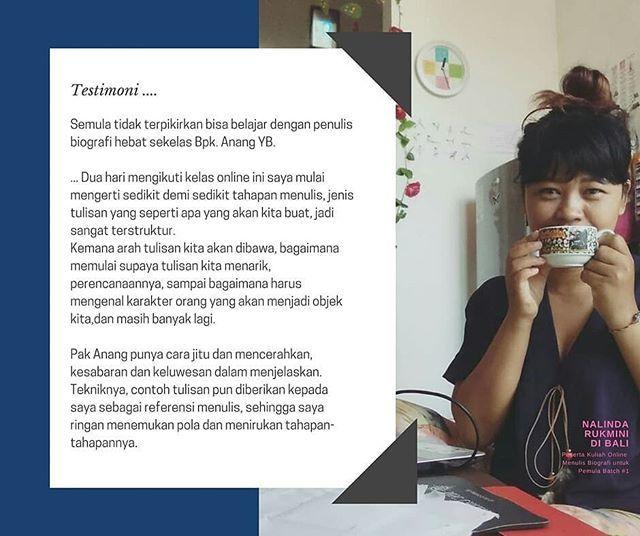 Anang Yb On Twitter Mentoring Menulis Biografi Menulis Fiksi