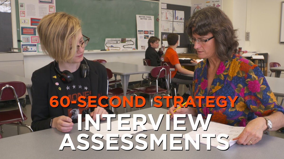 Tips for using 5-minute interviews (rather than tests) to find out what your students really know. #60SecondStrategy