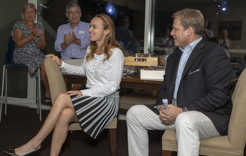 A little Q&A with @usopen champion @mhingis. She charmed the whole suite-full. @OctagonTennis @Fidelity