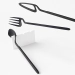 Image for the Tweet beginning: nendo's skeleton collection features cutlery
