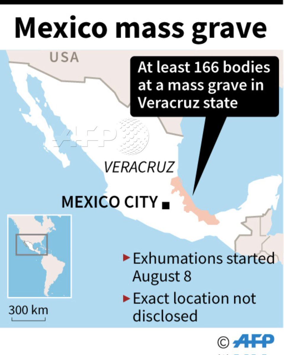 Afp Map Showing Veracruz State In Mexico Where Authorities Have