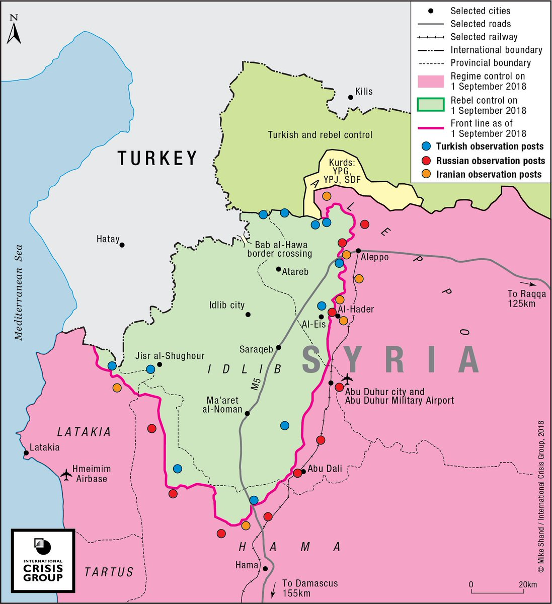 Tehran Middle East Map.Sam Heller On Twitter Map Of Idlib S De Escalation Zone From