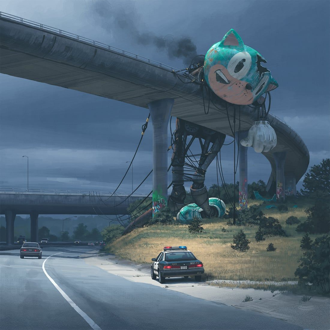 Phoebe Gardiner On Twitter Perfect For A Friday Afternoon Simon Stalenhag S Hauntingly Beautiful Retro Scifi Art Https T Co T3oiiehba3 Cnnstyle Fridayfeeling And An Amazon Series On The Horizon Talesfromtheloop Https T Co E5mx8joxbe