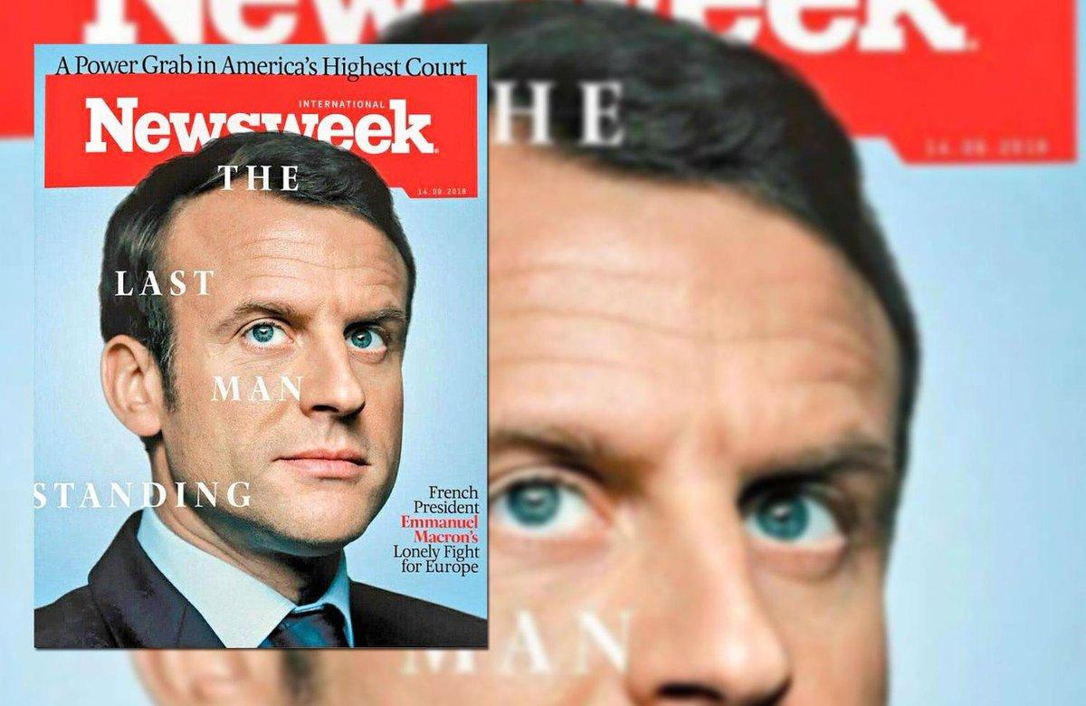 Pour Newsweek,  le président français porte le poids de l'avenir du continent européen. https://t.co/OkGAdXP4vc