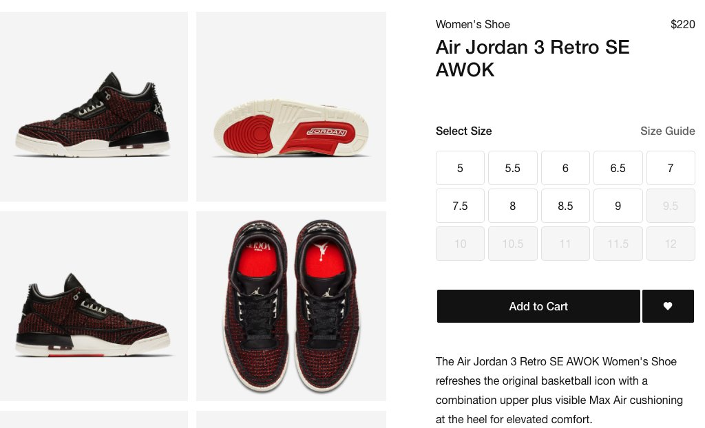 2161b73f4687 VOGUE x Retro Air Jordan 3 SE  AWOK  is now available on NIKE! RED   http   bit.ly 2NXbulG BLACK  http   bit.ly 2NTf404  pic.twitter.com wIIyRznTz0