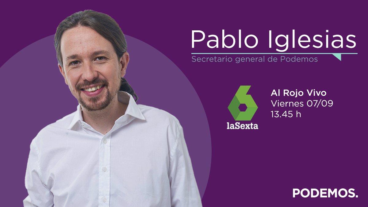 📺 A las 13:45h participaré en @DebatAlRojoVivo. Podréis verlo en directo aquí: atresplayer.com/directos/lasex…