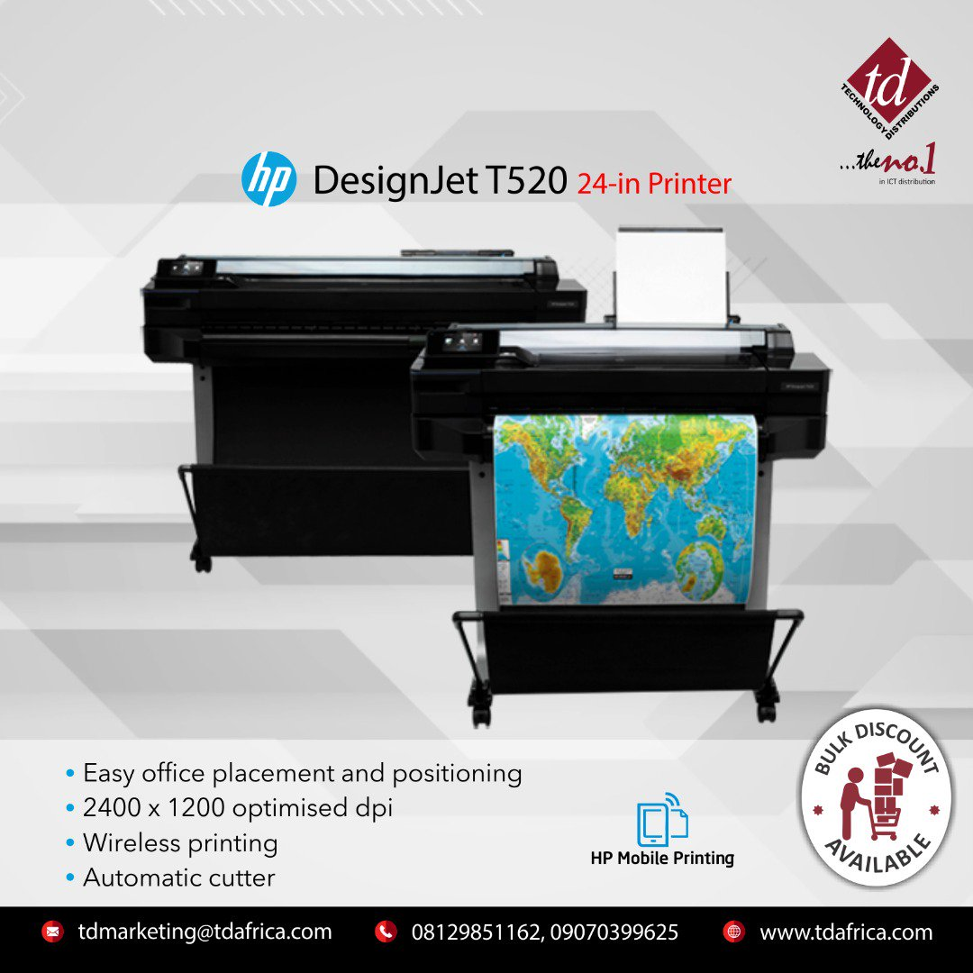 Designjet Hashtag On Twitter Plotter Hp T520 24 Inch 0 Replies Retweets Likes