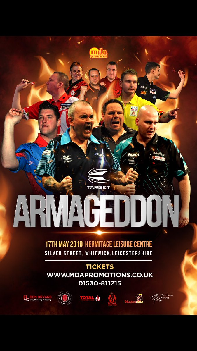 Next year I'll be taking part in @MDApromotions Armageddon! They're always fantastic nights looking forward to seeing you all there 🎯