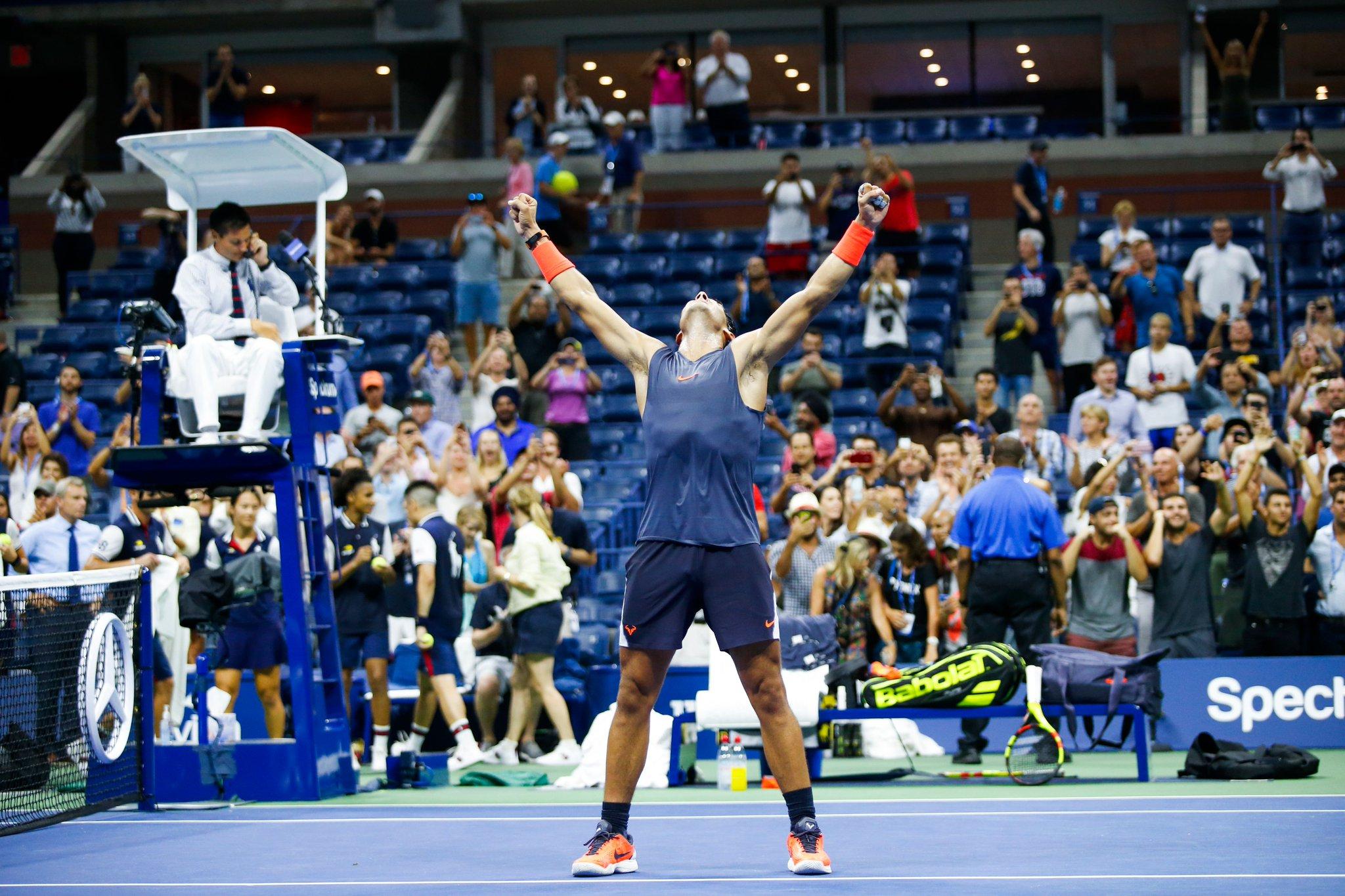 That #FridayFeeling �� ��   Who else is still buzzing from Nadal & Thiem's epic QF clash?! ��♂️  #USOpen @RafaelNadal https://t.co/a4nwHzz9DJ