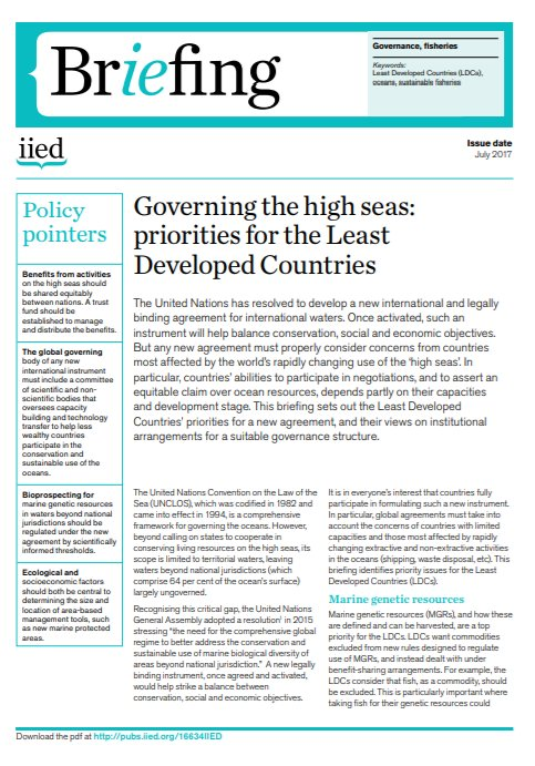 Iied On Twitter Download Governing The Highseas Priorities For