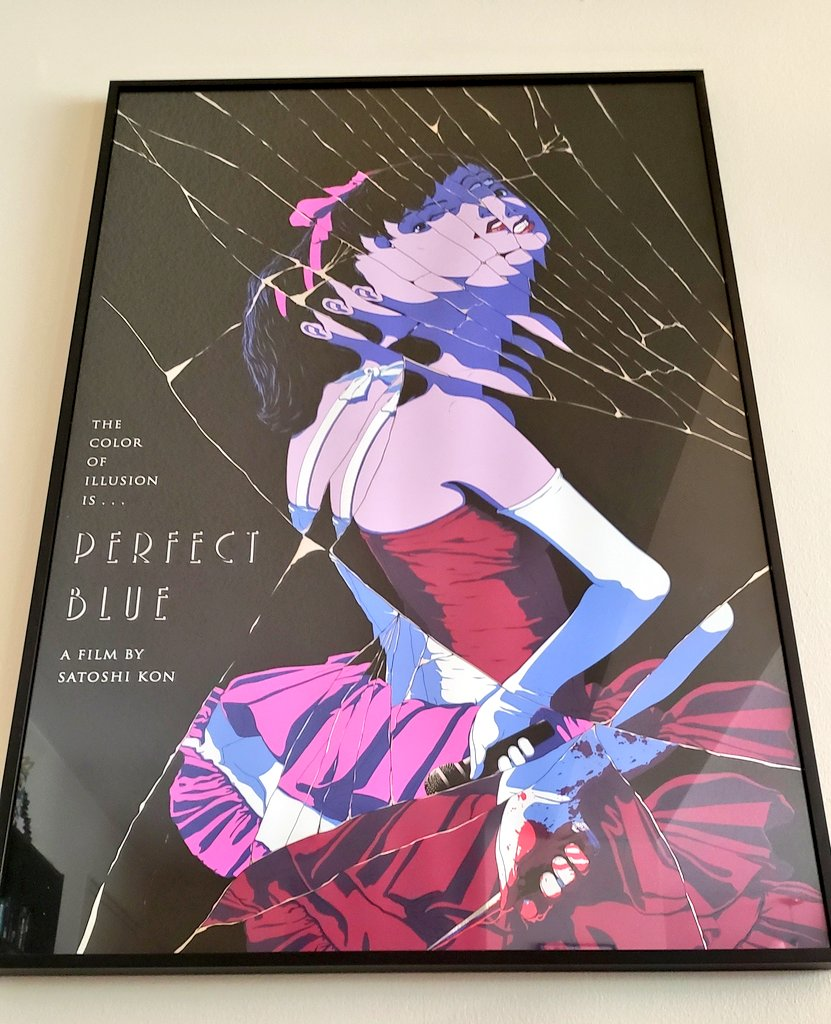 Noam Blum On Twitter Speaking Of Perfect Blue One Of My Most Prized Possessions Is This Rare Original Perfect Blue Art Print I Think Only 15 Of These Exist Https T Co 5cz100cyfv