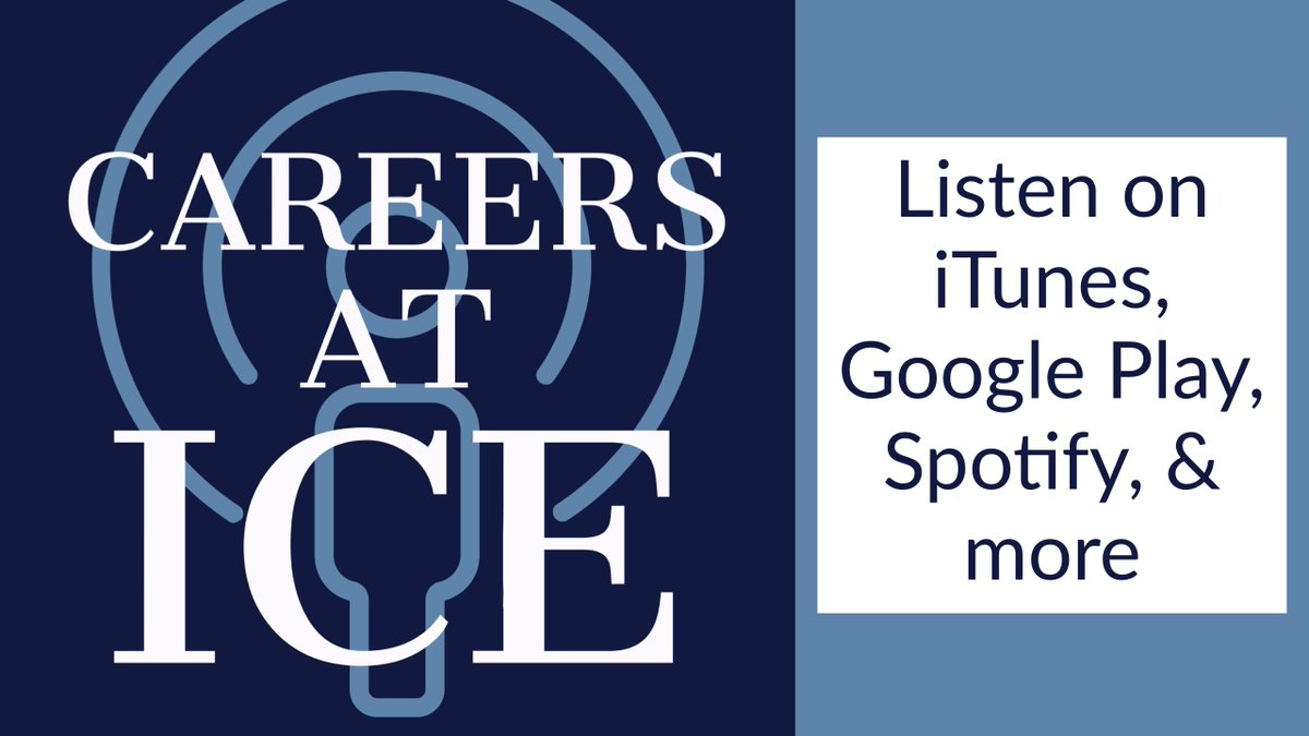 During the 2nd episode of the #CareersatICEpodcast, hear from ICE Academy instructors Frank Unger (ERO) & Todd Rignel (HSI). They answer questions about the physical & mental challenges of preparing for the Academy & a federal law enforcement career https://t.co/aRaHn689vZ