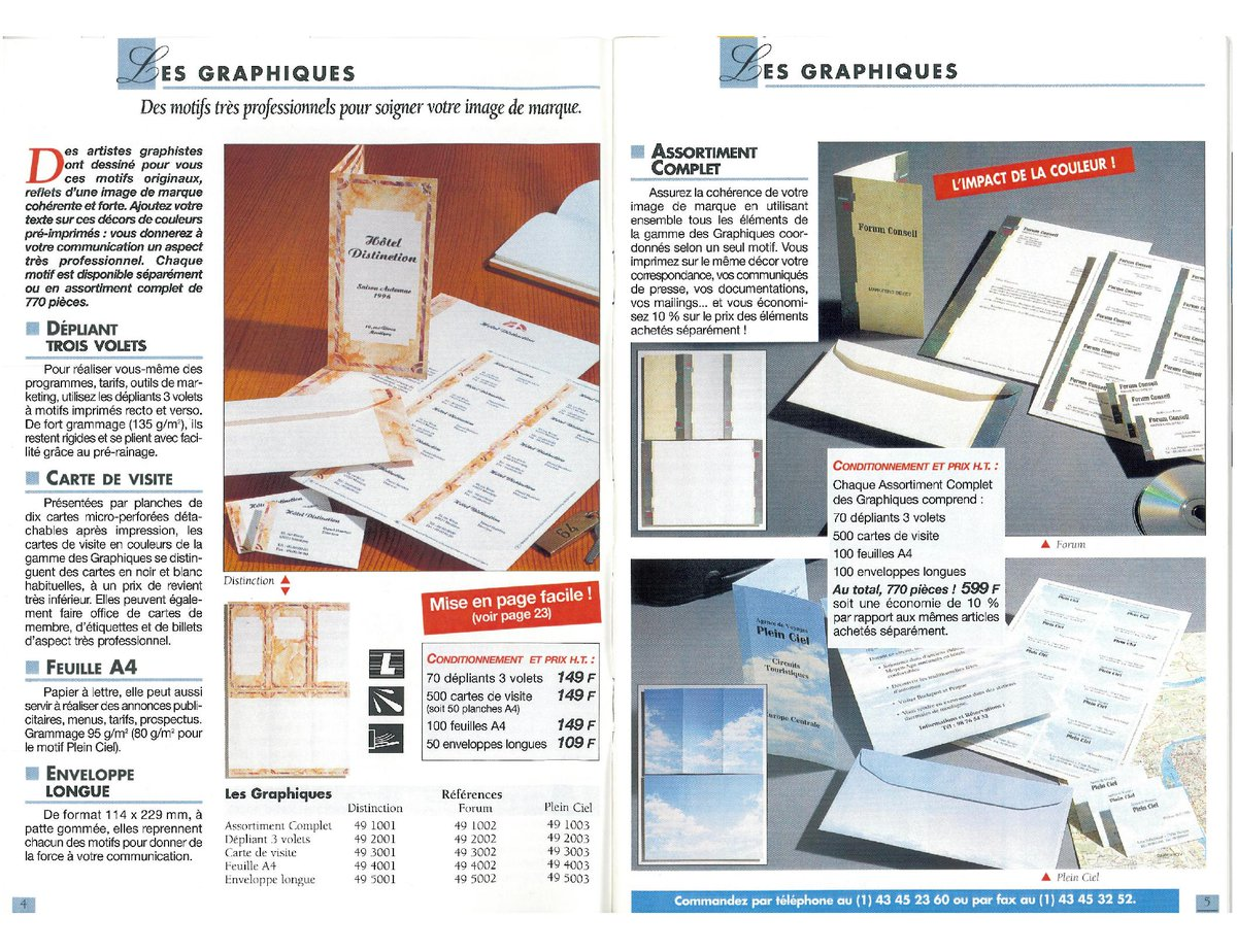 Company BonneImpression Catalog Offered Customers Easy To Use Desktop Publishing Software And Specialty Paper Print Their Own Marketing Materials