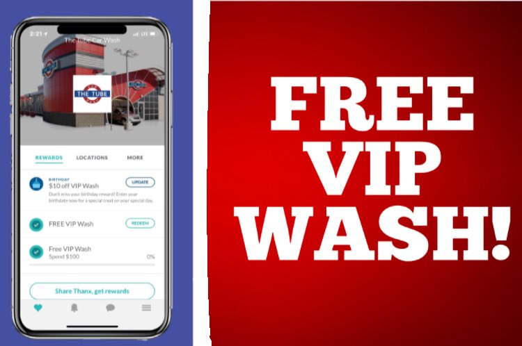 The Tube Car Wash On Twitter Introducing Our New Rewards App Text The Tube To 43618 And Earn Your First Free Vip Wash Just For Signing Up