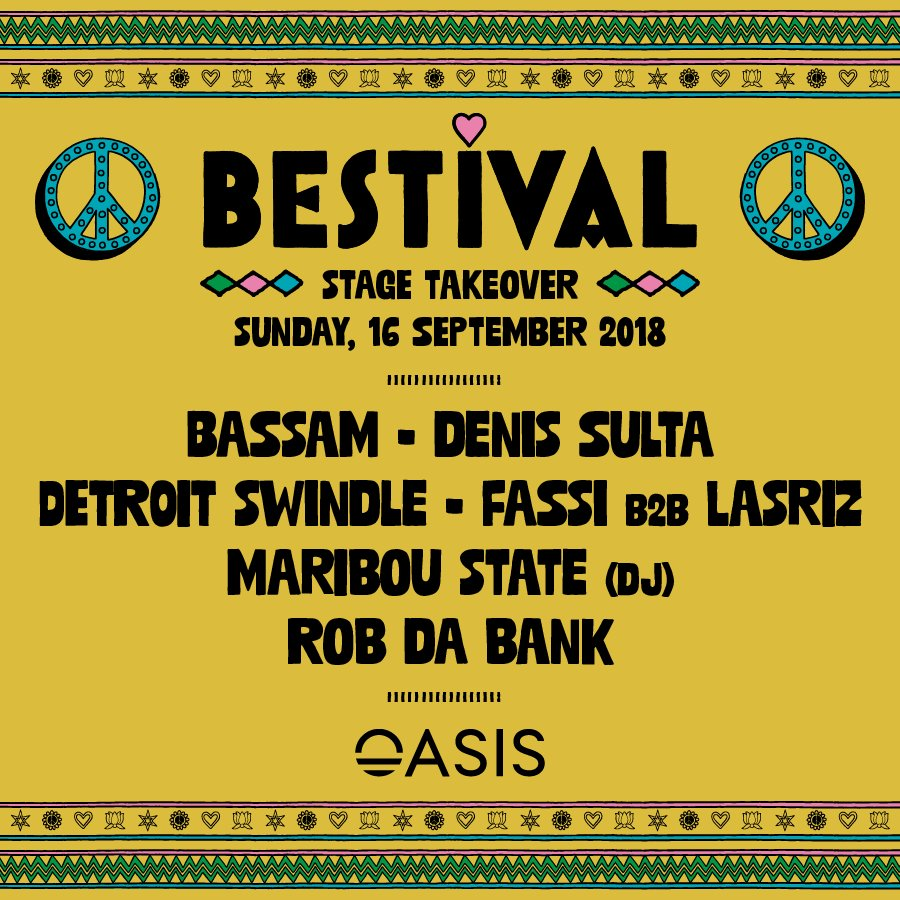 Very excited to take over The Mirage Stage at @TheOasisFest inMarrakesh on Sunday 16th September featuring our head honcho, @RobdaBank! See you there! ✌️ https://t.co/02fxcc9wZ2
