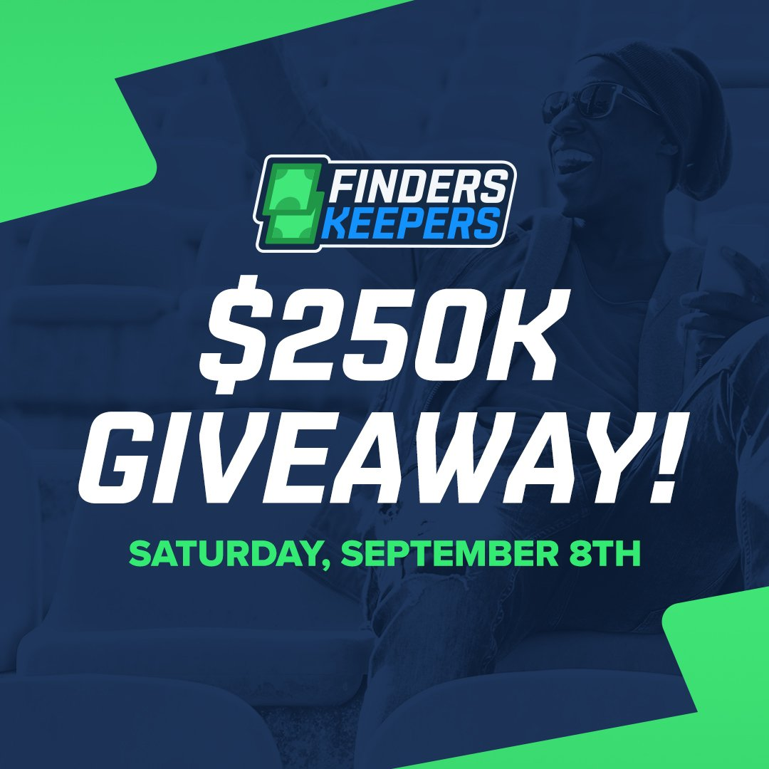 We're giving away $250,000 today!  Log in to FanDuel and you could find anywhere from $5 to $1,000 waiting for you!  All 💰 will be added to players' FanDuel accounts by 4pm ET and must be used by 9pm ET on Sunday, September 9th.   🤑 ➡️ http://go.fanduel.com/FindersKeepersNFL…
