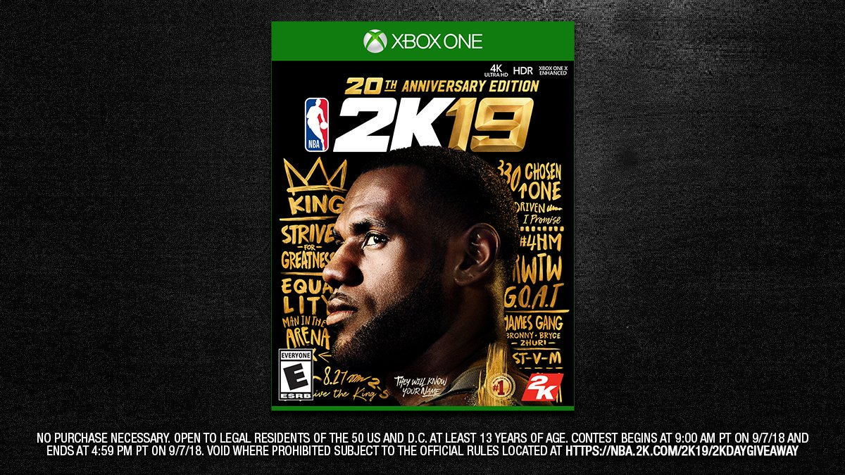 2K Day Giveaway 🚨 Want a Xbox digital copy of the NBA 2K19 20th Anniversary Edition? RT and include #2KDay & #giveaway for a chance to win  http://nba.2k.com/2k19/2kdaygiveaway …