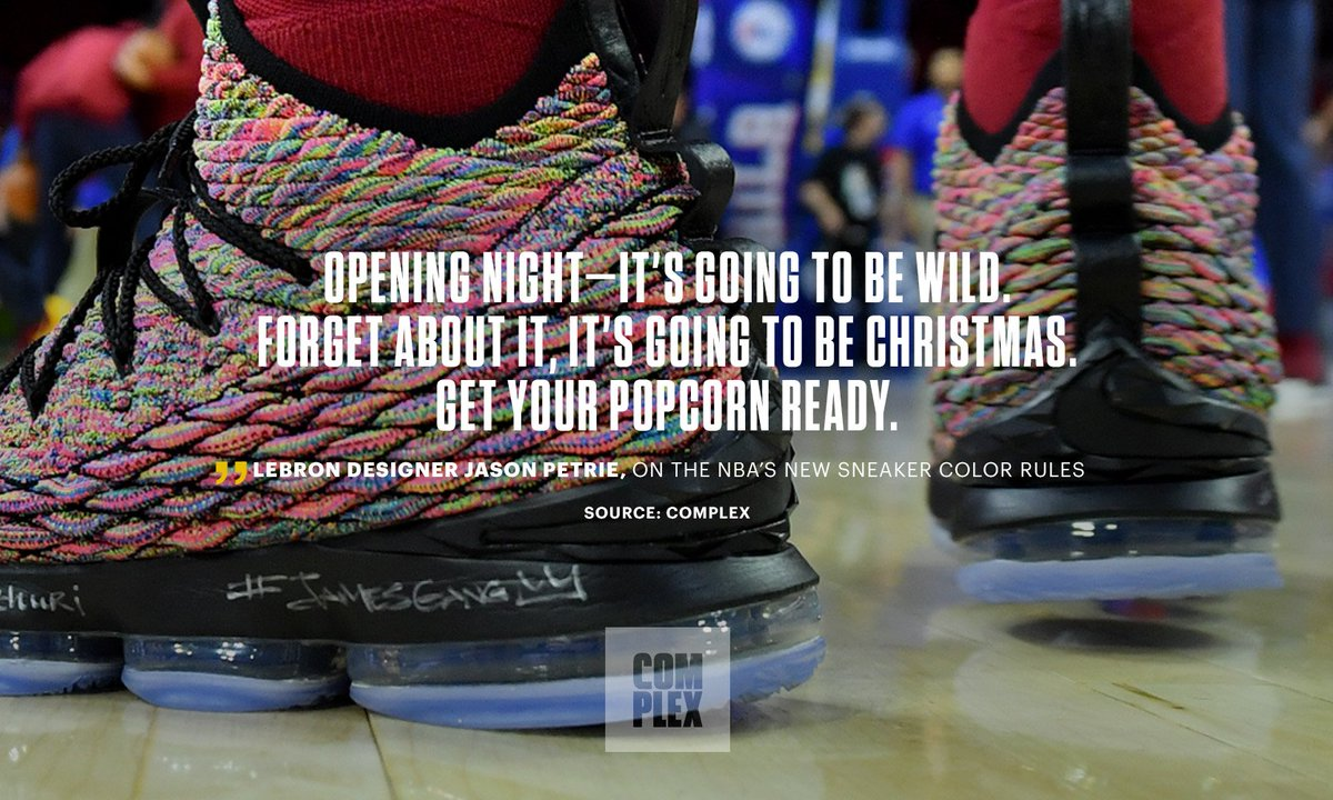 1adba7010a3 Nike lebron 16 designer jason petrie is teasing big things for nba opening  night.