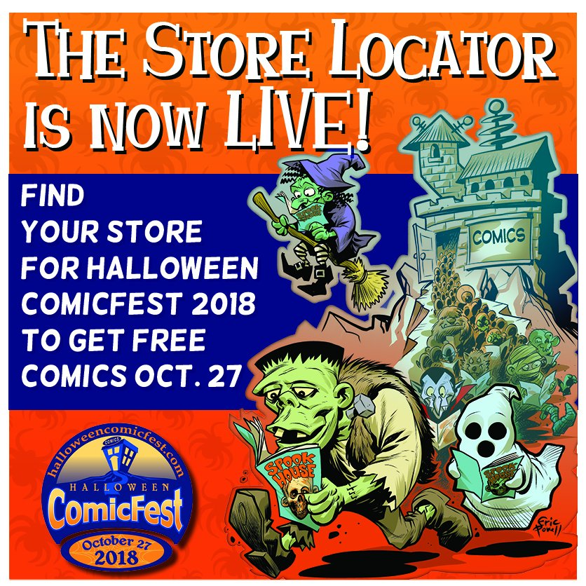 which local comic shops are participating near you and make your plan to get free comics on october 27th httpshalloweencomicfestcomstorelocator