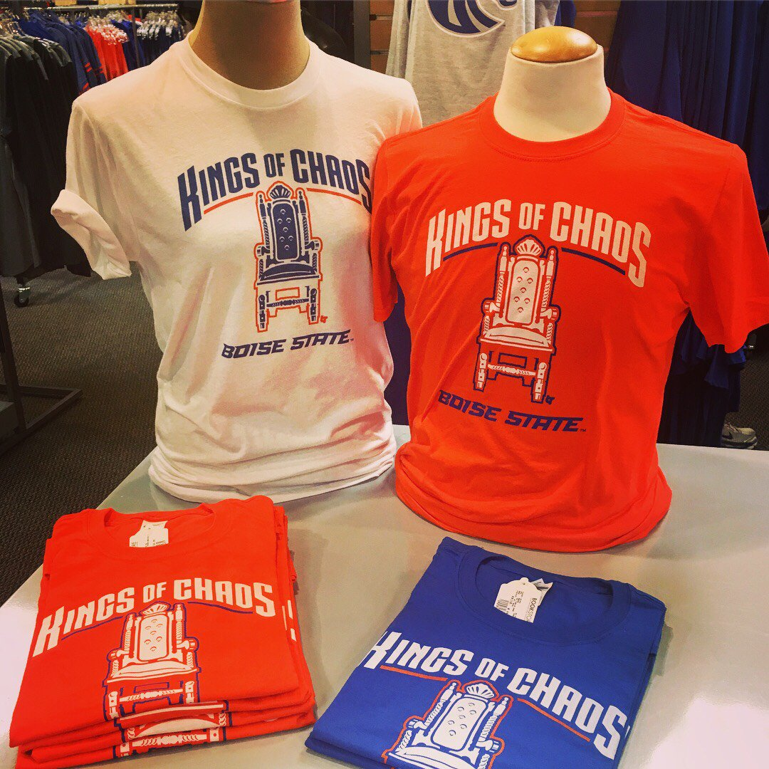 You come to the bronco shop you can buy a turnover throne shirt every bronco can get in on our new football fun boisestate broncoshopping