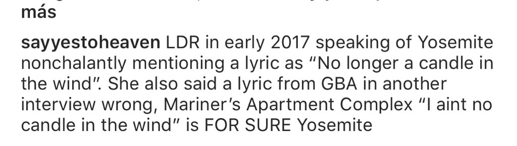 Lana Del Rey Latest On Twitter It S Rumored That Mariner S Apartment Complex Is Yosemite