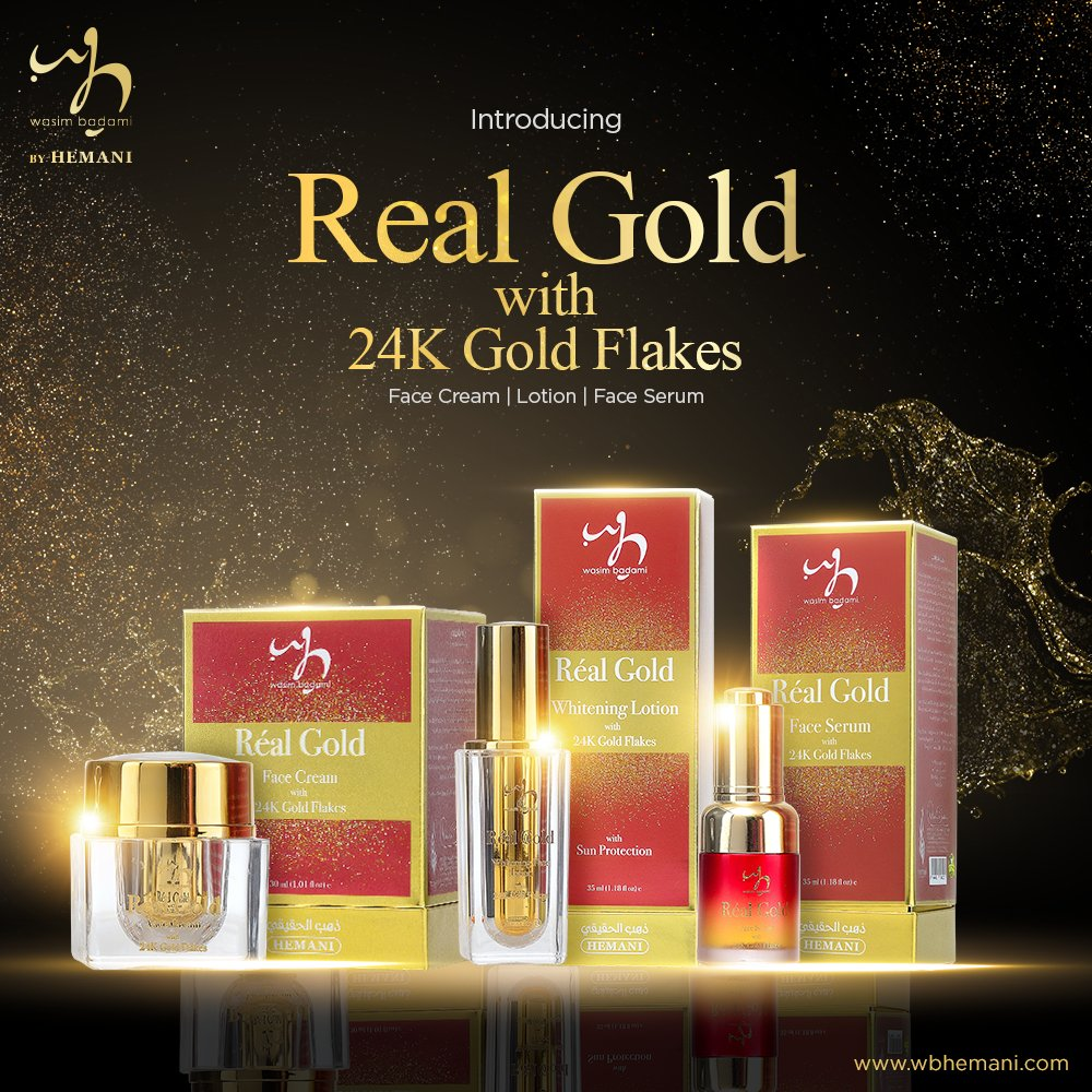 3735dcdceb0 Grab our New Real Gold Serum, Cream & Lotion now for flawless skin!  #WBbrand #WBstores #WBbyHemanipic.twitter.com/KH8FT8ftF6