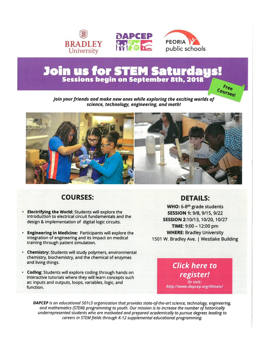 Psd150 On Twitter Free Saturday Stem Classes For Peoria Public Circuitforcircuitconceptspage2jpg School 6th 7th 8th Graders Starts Tomorrow 9 8 Am Noon Bradleyu Thru 10 27