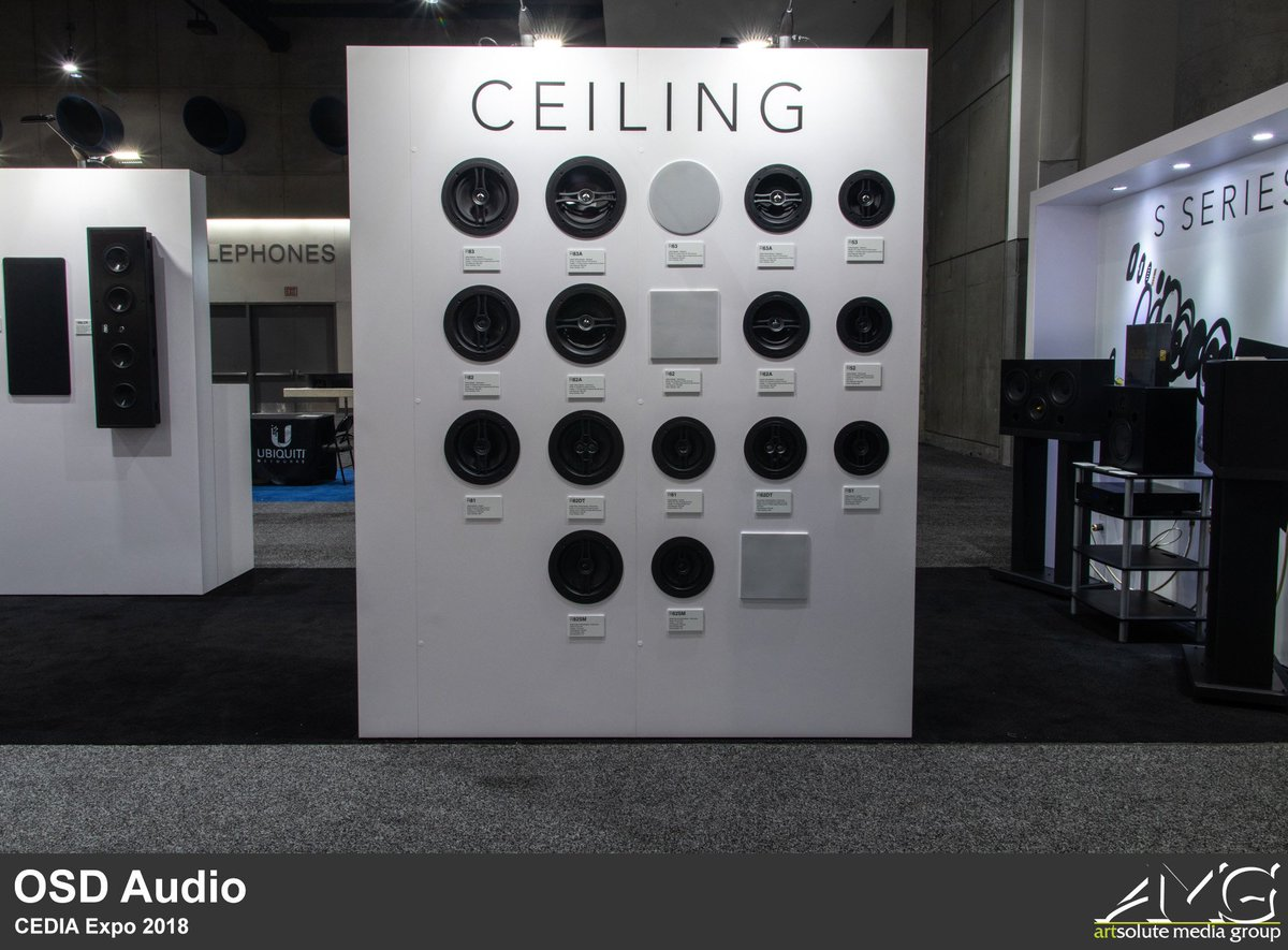 Lastly, we have OSD Audio. Also known as Optimal Speaker Design, they're a company who's engaged in the design, engineering, and distribution of high-quality home and commercial audio products. You can visit them over at Booth #2711!  #CEDIAExpo #OSDAudio #exhibitdesignpic.twitter.com/y6hVE0F58y