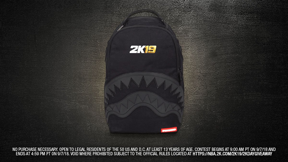 2K Day Giveaway 🚨 We're hooking you up with a custom @Sprayground backpack feat. NBA 2K19 gear! RT and include #2KDay & #giveaway for a chance to win http://nba.2k.com/2k19/2kdaygiveaway …