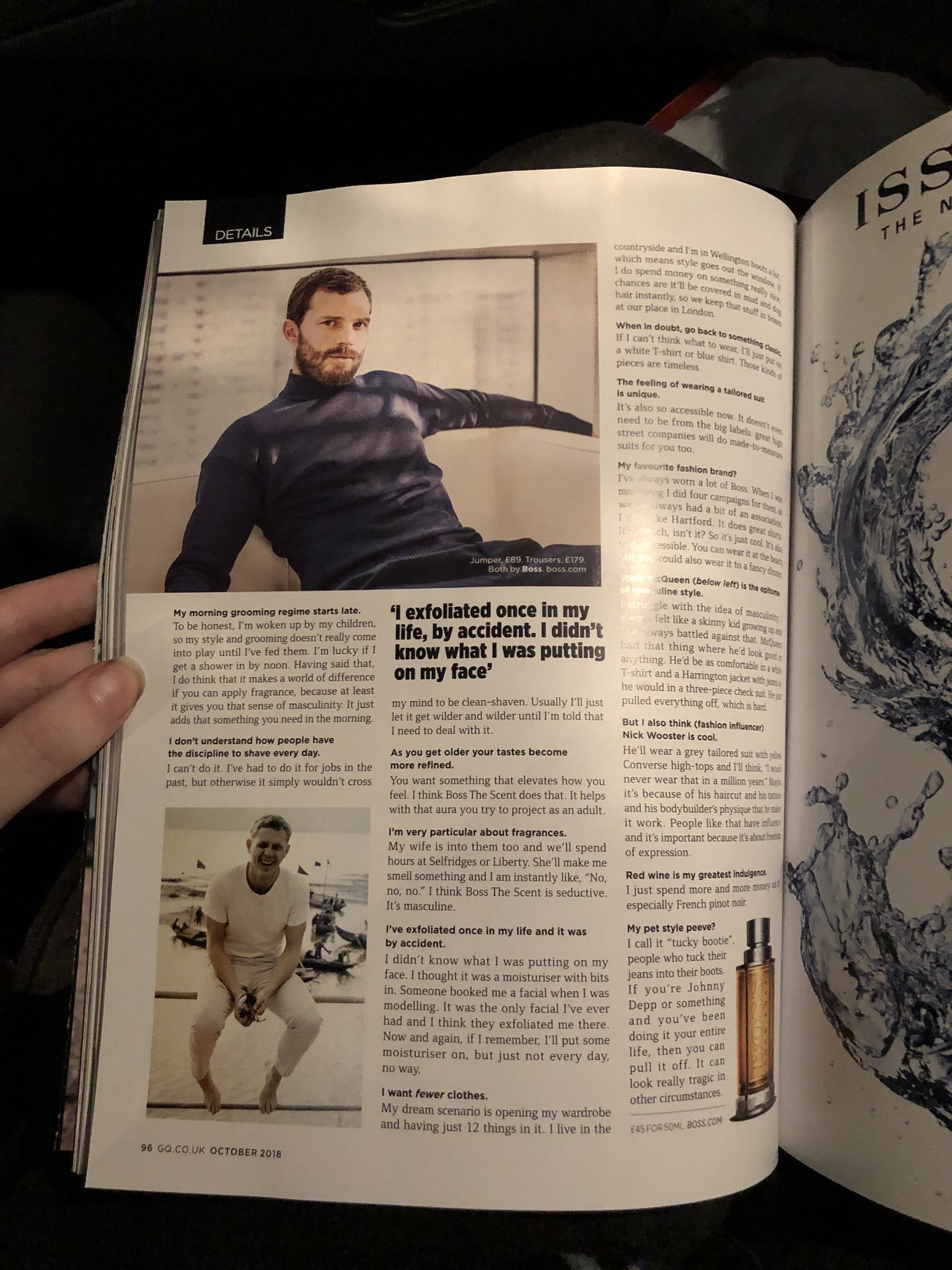 Wooster nick joins large magazine fotos