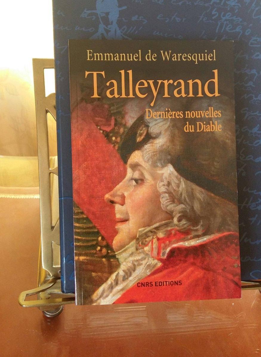 """#VendrediLecture: """"Talleyrand. Dernières nouvelles du Diable"""" d\"""