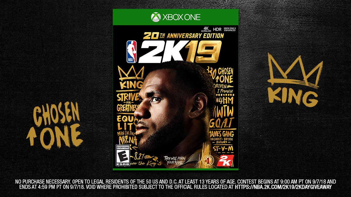 2K Day Giveaway 🚨 We're giving you another chance to win a Xbox digital copy of the NBA 2K19 20th Anniversary Edition. RT and include #2KDay & #giveaway for a chance to win http://nba.2k.com/2k19/2kdaygiveaway …