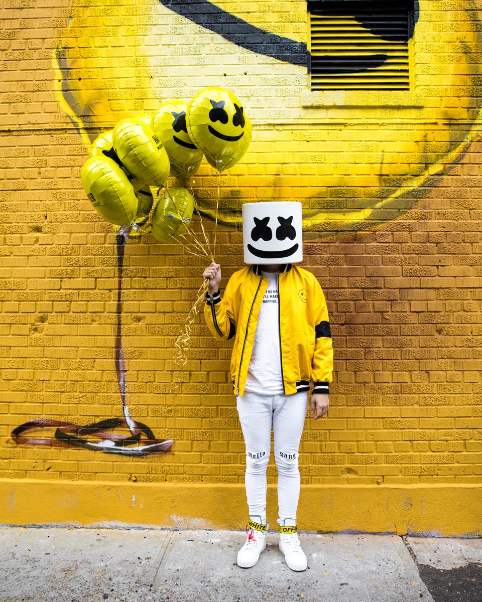"Marshmello On Twitter: ""Mellogang! Take A Photo At The #Happier Mural In #NYC At 323 Broome"