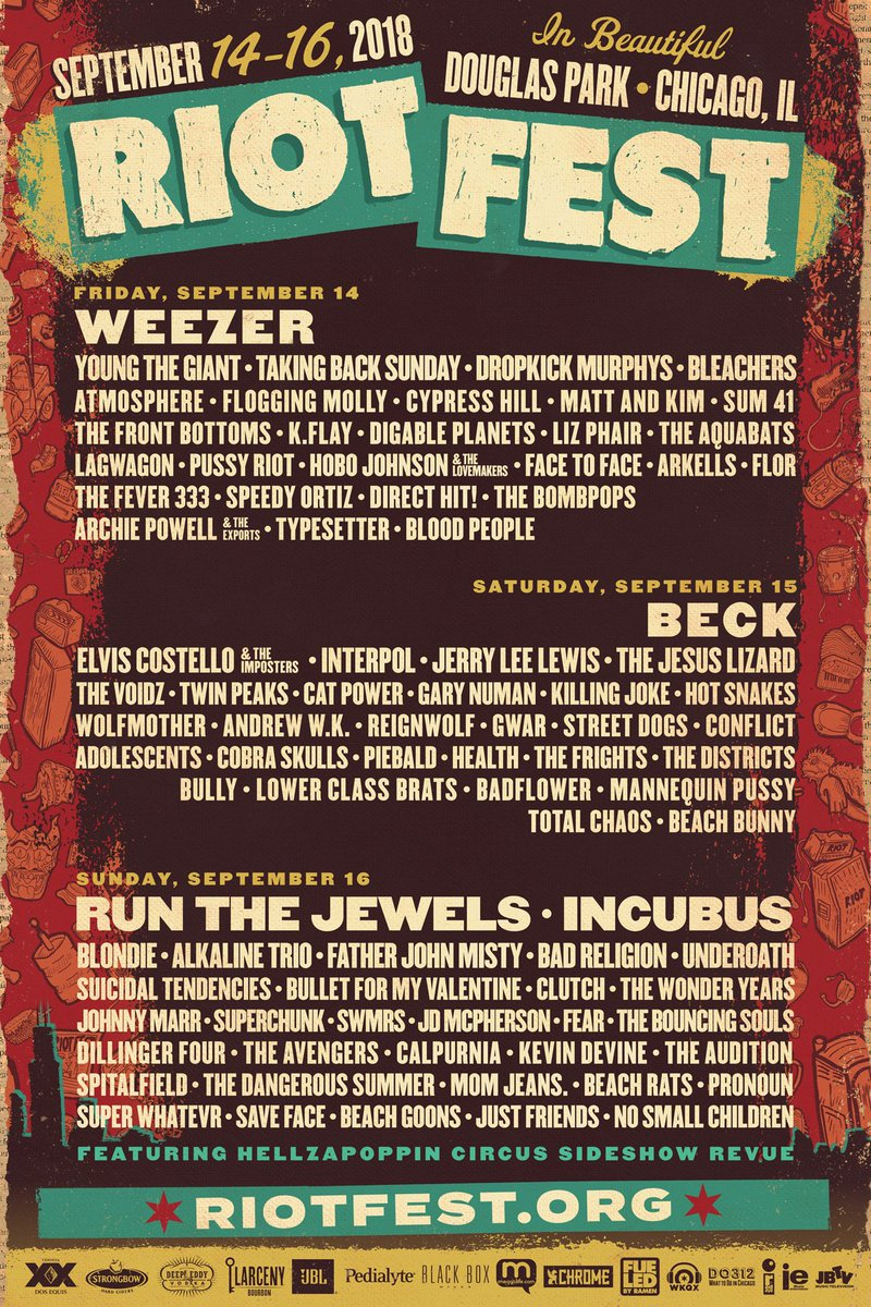 Riot Fest On Twitter Ticket Giveaway Time Feeling Lucky Rt And