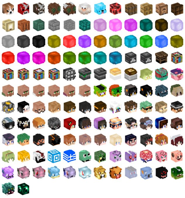 Minecraft Heads Com On Twitter Here S The Next Update 134 New
