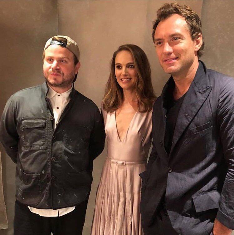 Natalie Portman, Brady Corbet and Jude Law at #TIFF18