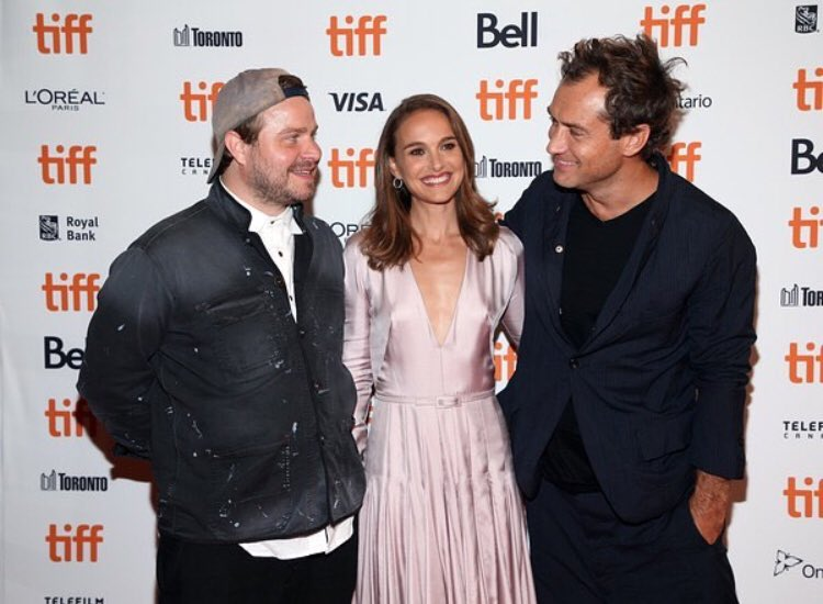 """""""#VoxLux premiere at #TIFF. My 4th movie with Jude and 1st with Brady."""" Natalie via Instagram"""