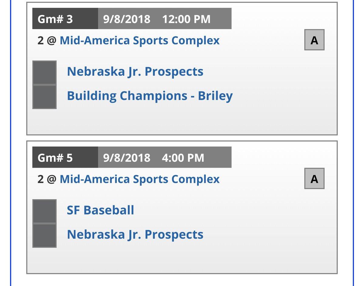 Jr Prospects schedule for @officialPGBA Kansas City   @ejuniorspects