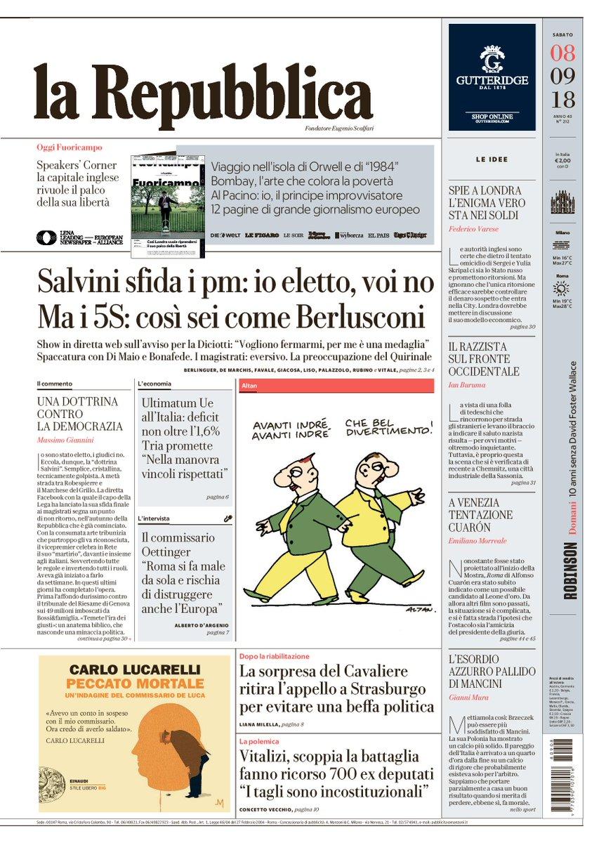 La Repubblica On Twitter Salvini Sfida I Pm Io Eletto Voi No Ma