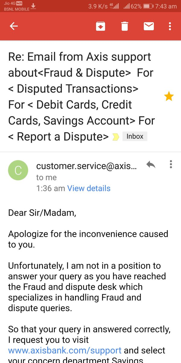 Axis Bank Support On Twitter Hi We Request You To Provide Us With The Service Request Number If Any Also Let Us Know The Concern So That We Will Get It Done
