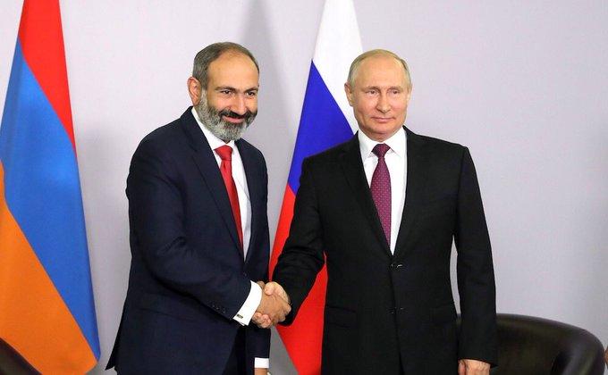 Владимир Путин сегодня примет в Кремле премьера Армении Никола Пашиняна и откроет концертный зал в парке «Зарядье» Фото