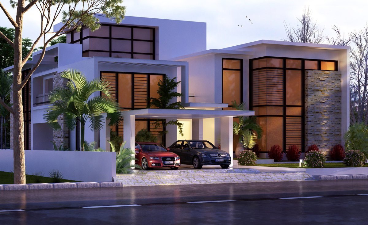 Kerala Home Designs On Twitter Contemporary Style House Design Https T Co Hn5mxvftby Architect 3d Designs Houseplans Interiors Keralahomedesigns Https T Co I0kpujqrbp