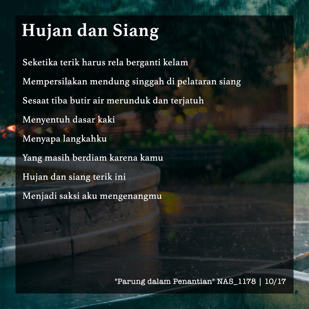 tutur rasa poetry a hujan dan siang karya tulis