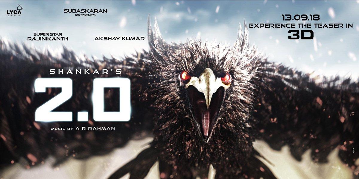 2pointo teaser 2d 3d rajinikanth aksay kumar amy jackson shankar