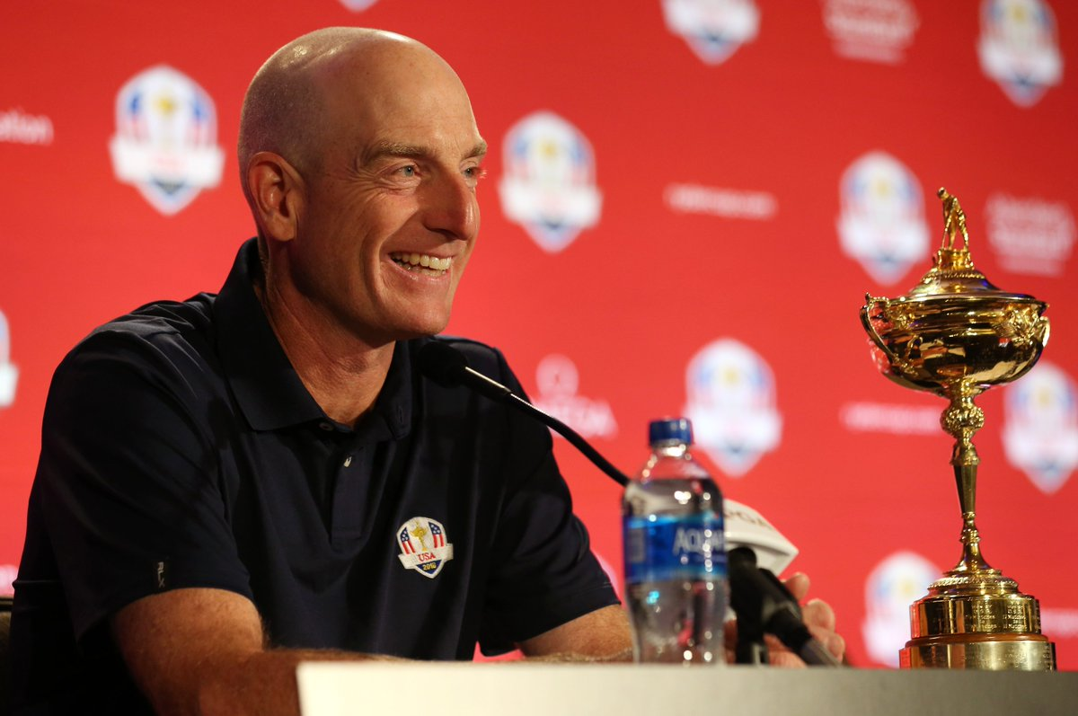 Players coach Furyk takes football-like strategy to #RyderCup: usat.ly/2wWXkd7