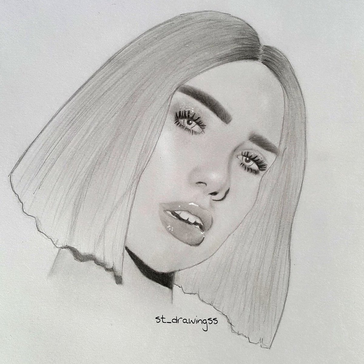 St Drawingss On Twitter Electricity Dualipa Art Drawing